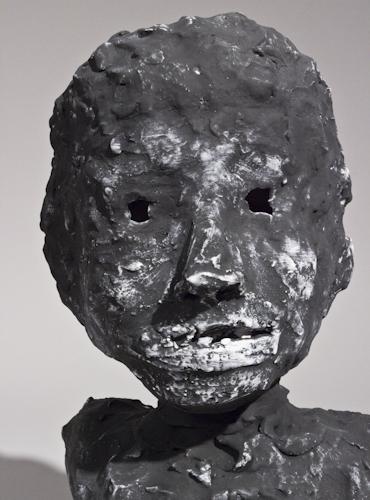 Blackened Portrait Bust with Window Eyes - 63