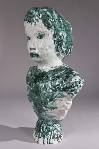 Large Majolica and Copper Portrait Bust #3 - 110