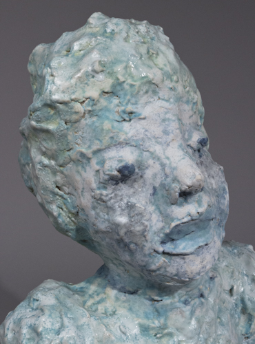 Portrait Bust with Blue Lips - 49b